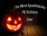 PE Halloween Fitness Stations