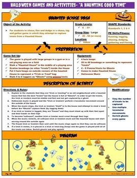 "PE Halloween Games and Activities-  ""Spooktacular"" Fun!"