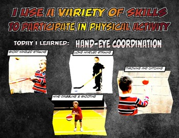 PE: Hand Eye Coordination Skill Cue Poster