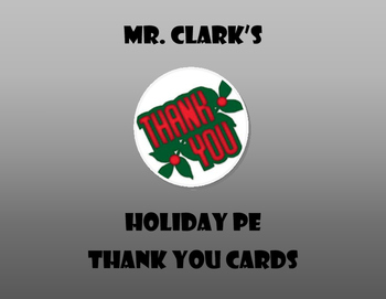 Holiday PE Thank You Cards