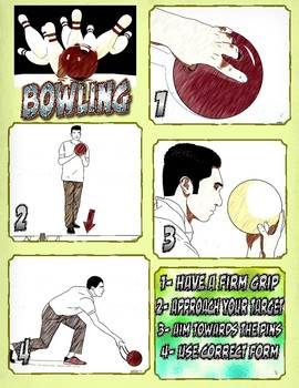 PE: How to Bowl Skill Poster