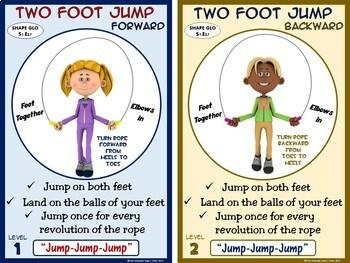 PE Jump Rope Skills (Individual)- 50 Instructional Cards