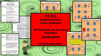 PE-K-6 Fitness Unit –Cardio & Team Work -Motor skills movements
