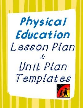 P.E. Lesson Plan and Unit Plan Template