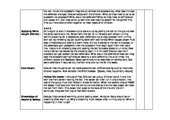 PE Lesson Plans - Rugby