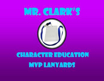 PE MVP Lanyards Character Education Edition