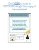 PE Make-Up worksheet - Fully Editable in Google Docs!