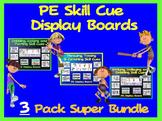 PE Skill Cue Display Boards- 3 Pack Super Bundle