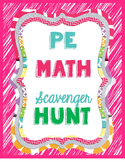 PE Math Exercise Scavenger Hunt Stations
