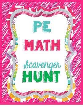 PE Math Exercise Scavenger Hunt Stations