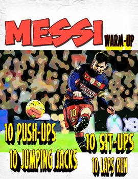 PE: Messi Warm Up Poster