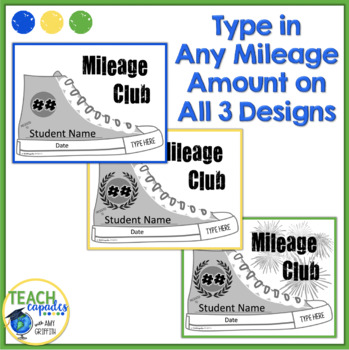 PE Mileage Club Editable Awards Certificate
