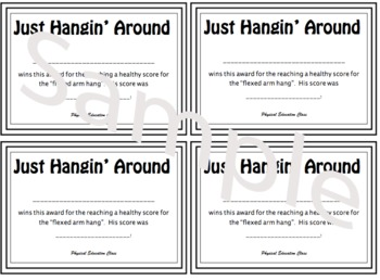 PE Mini-Certificate for Flexed Arm Hang - BOYS