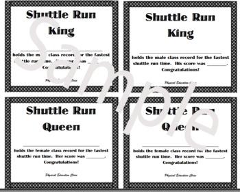 PE Mini-Certificate for Shuttle Run