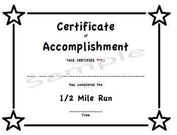 PE Certificates/Awards -Fitness Test SET