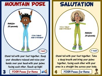 pe distance learning series 24 yoga poses for students at
