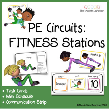 PE Fitness Circuit Stations - TASK CARDS