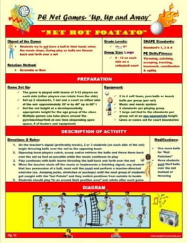 """PE Volleyball and Net Games- """"Up, Up and Away"""""""