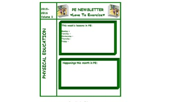 PE Newsletter Template By Arlene Talbert