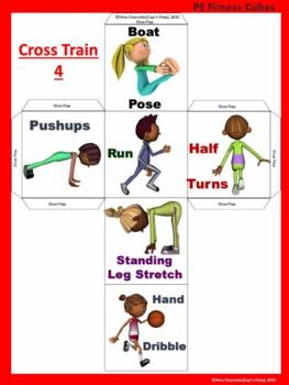 PE Cube Fitness- 17 Constructible PE Movement Cubes