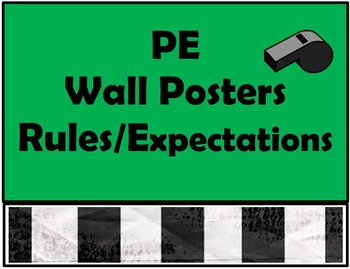 PE POSTERS Rules