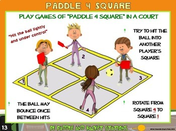 """PE Paddle and Racket Sport Stations- 20 """"Strike it Lucky"""" Zones"""