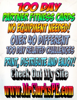 PE Partner Cards 100th Day Challenge