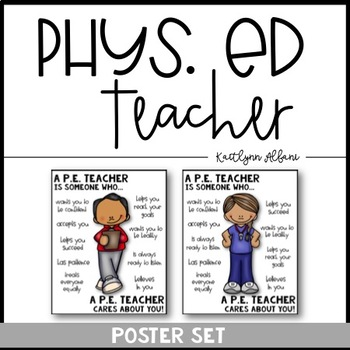 PE Physical Education Teacher Poster [Someone Who]