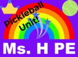 PE Pickleball Unit -K-6th Grade - COVID/Social Distancing