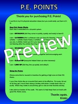 P.E. Points