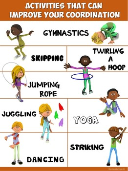 PE Poster: Activities that Improve your Coordination