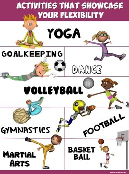 PE Poster: Activities that Showcase your Flexibility