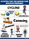 PE Poster: Activities that can improve your Muscular Endurance