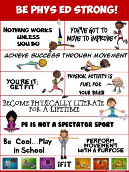 PE Poster: Be Phys Ed Strong!