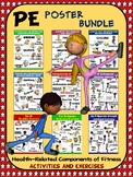 PE Poster Bundle: Components of Fitness- 9 Activity and Ex