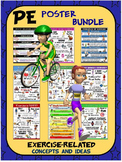 PE Poster Bundle: 9 Exercise-Related Concepts and Ideas Po