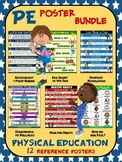 PE Poster Bundle: Physical Education and Health: 12 Refere