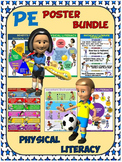 PE Poster Bundle: Physical Literacy- 6 Poster Package