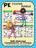 PE Poster Bundle: Skill Components of Fitness- 13 Activity