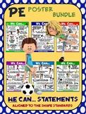 PE Poster Bundle: We Can Statements- 6  Posters Aligned to