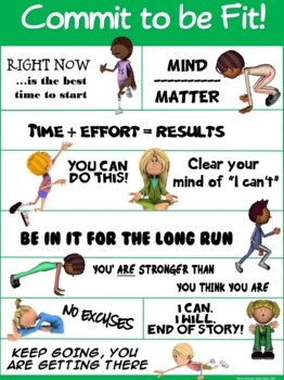 PE Poster: Commit to be Fit!