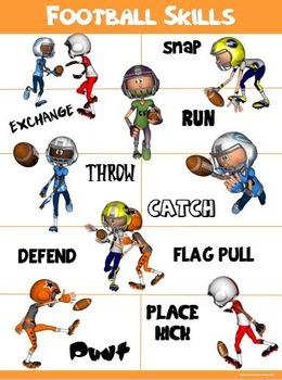 PE Poster: Football Skills