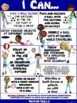 """PE Poster: """"I Can"""" Statements- Standard 1A: Motor Skill Pe"""