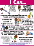 """PE Poster: """"I Can"""" Statements- Standard 5: Seeing the Valu"""