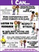 "PE Poster: ""I Can"" Statements- Standard 4: Personal and Social Behavior"