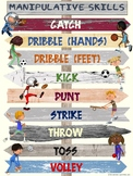 PE Poster: POINTING OUT PE- Manipulative Skills