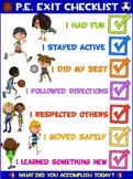 PE Poster: Physical Education Exit Checklist