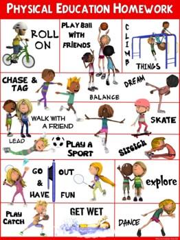 PE Poster: Physical Education Homework