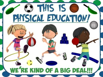 Physical Education Entry Posters-  9 Poster Bundle