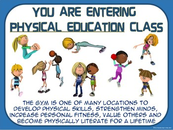 PE Poster: Physical Education...not Gym Class